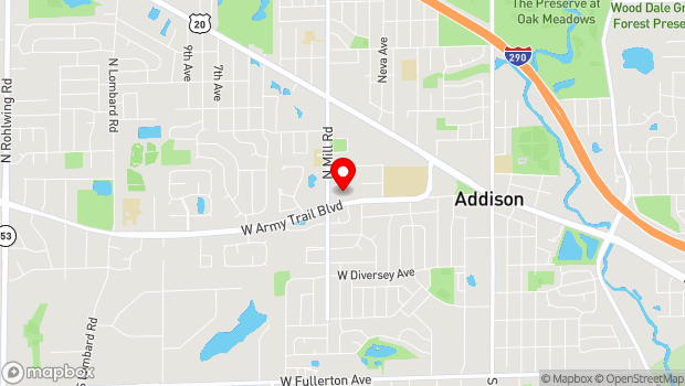 Google Map of Addison, IL 60101