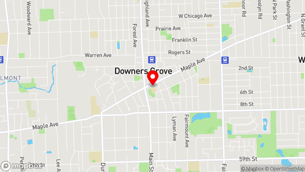 Google Map of 935 Maple Avenue, Downers Grove, IL 60515