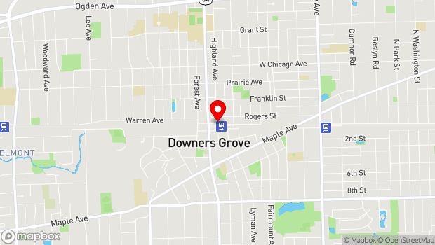 Google Map of 5021 Highland Avenue, Downers Grove, IL 60515
