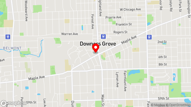 Google Map of 1032 Maple Avenue, Downers Grove, IL 60515