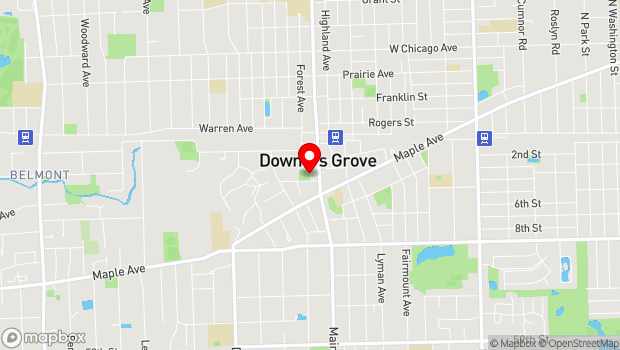 Google Map of 1050 Grove Street, Downers Grove, IL 60515