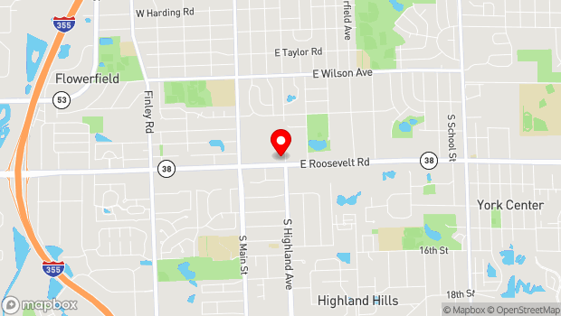 Google Map of 200 E. Roosevelt Road, Lombard, IL 60148