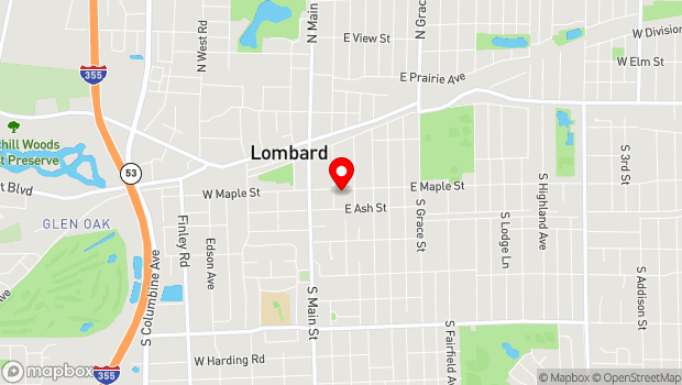 Google Map of 115 Maple Street, Lombard, IL 60148