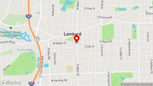 Google Map of 200 South Main Street, Lombard, IL 60148