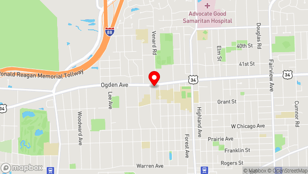 Google Map of 1321 Ogden Avenue, Downers Grove, IL 60515