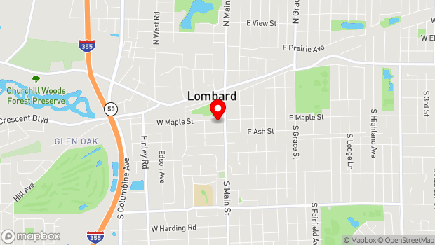 Google Map of 23 West Maple STreet, Lombard, IL 60148