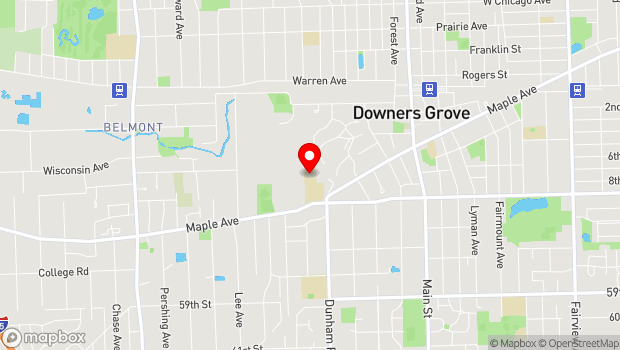 Google Map of 1400 Maple Ave., Downers Grove, IL 60516