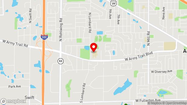 Google Map of 213 N. Lombard Road, Addison, IL 60101