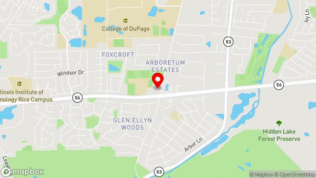 Google Map of 2S720 Park Boulevard, Glen Ellyn, IL 60137