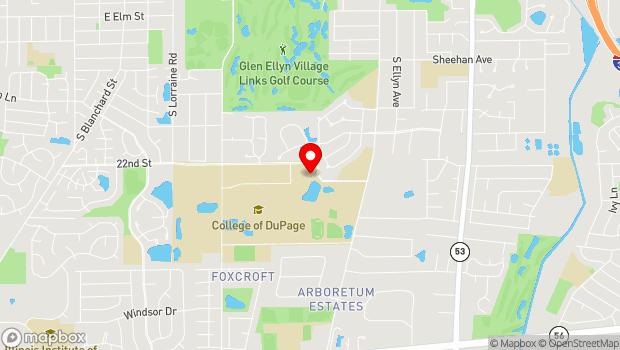 Google Map of 425 Fawell Blvd, Glen Ellyn, IL 60137