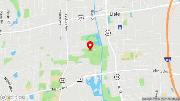 Google Map of 1825 Short Street, Lisle, IL 60532