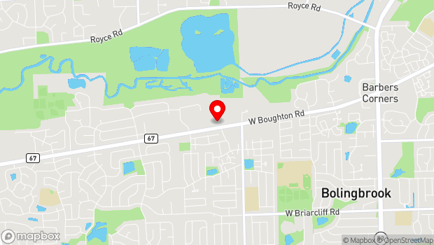 Google Map of 550 West Boughton Road, Bolingbrook, IL 60440
