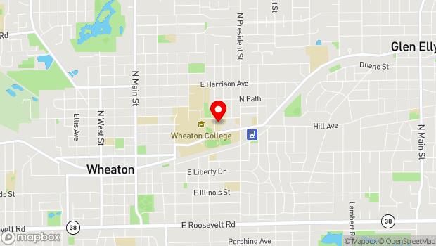 Google Map of 433 Howard Street, Wheaton, IL 60187