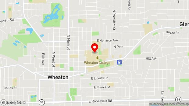 Google Map of 520 Kenilworth Ave., Wheaton, IL 60187