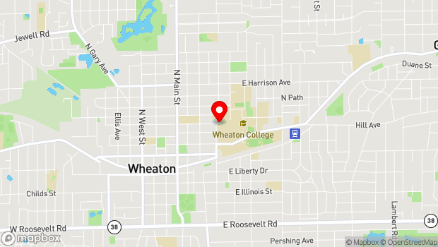 Google Map of 401 E. Franklin St., Wheaton, IL 60187