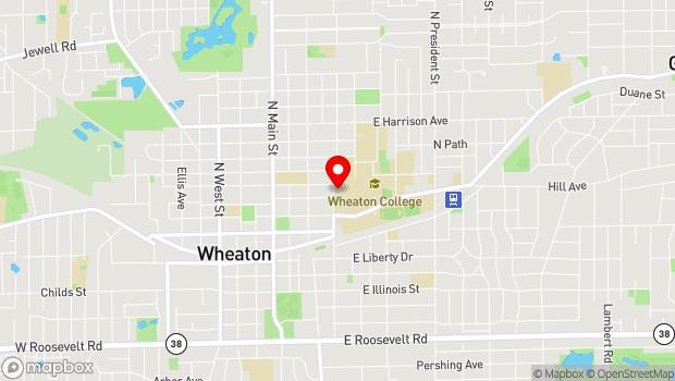 Google Map of 433 N. Washington, Wheaton, IL 60187