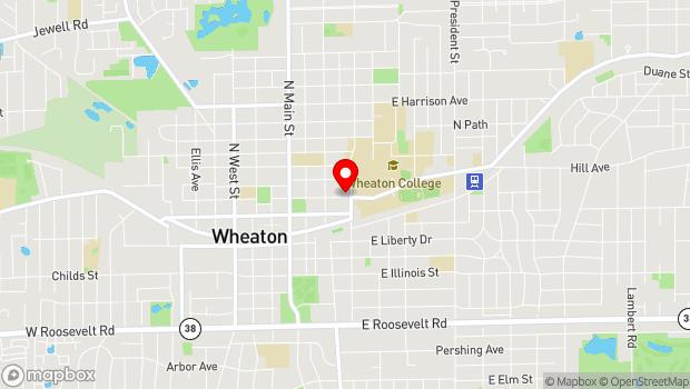 Google Map of 335 E. Seminary Ave., Wheaton, IL 60187