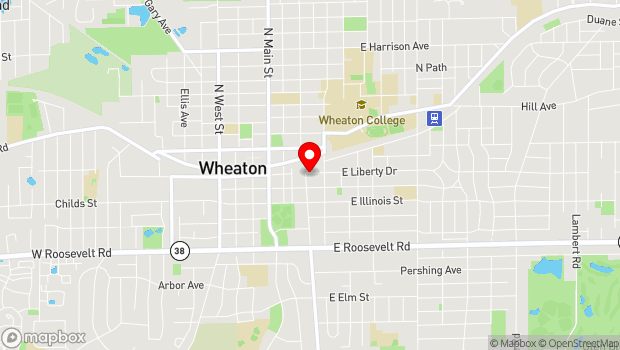 Google Map of 201 S. Naperville Rd., Wheaton, IL 60187