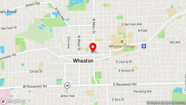 Google Map of 216 N. Main Street, Wheaton, IL 60187
