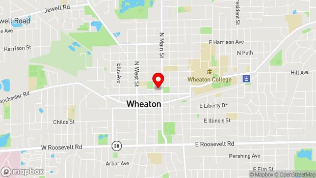 Google Map of 224 N. Main St., Wheaton, IL 60187