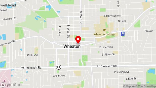 Google Map of 111 N. Hale St., Wheaton, IL 60187