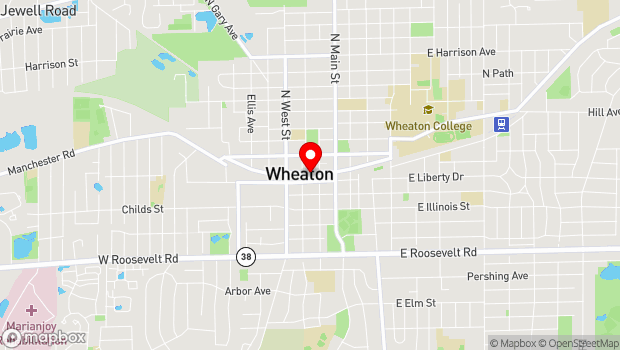 Google Map of 225 W. Front Street, Wheaton, IL 60187
