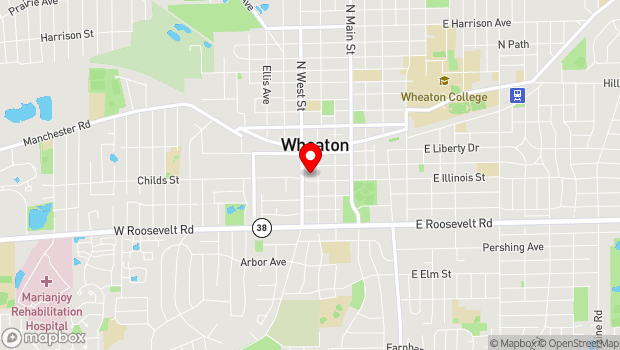Google Map of 310 S. Wheaton, Wheaton, IL 60187