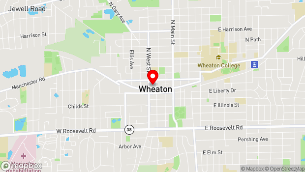 Google Map of 315 W. Front St., 2nd Floor, Wheaton, IL 60187