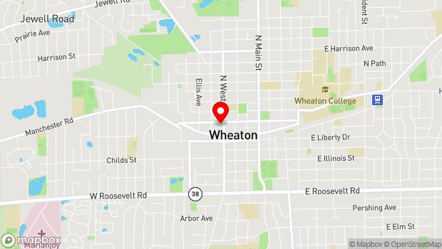 Google Map of 130 North West, Wheaton, IL 60187