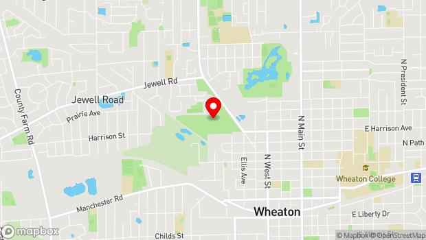 Google Map of Wheaton, IL 60187
