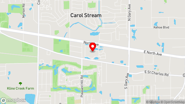 Google Map of 124 Windsor Park Drive, Carol Stream, IL 60188