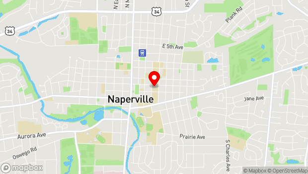 Google Map of 310 E. Benton, Naperville, IL 60540