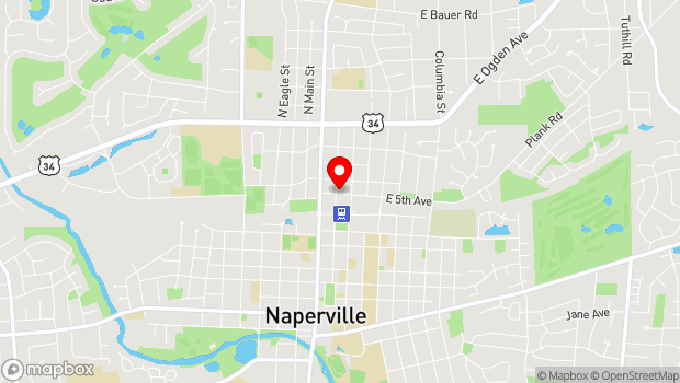 Google Map of 508 North Center Street, Naperville, IL 60563