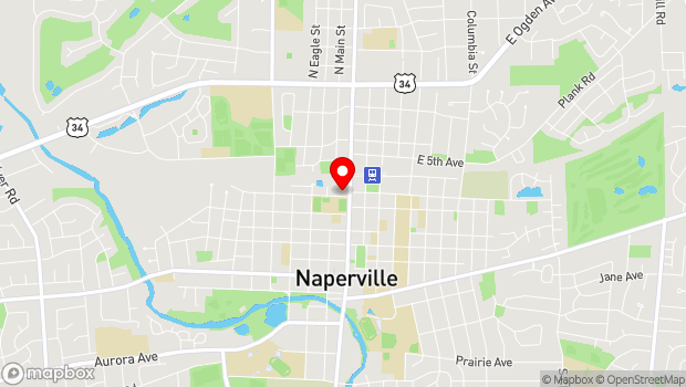 Google Map of 301 N. Washington St., Naperville, IL 60540