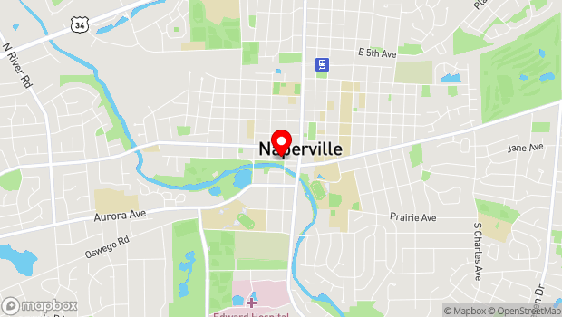 Google Map of 105 Jackson, Naperville, IL 60540