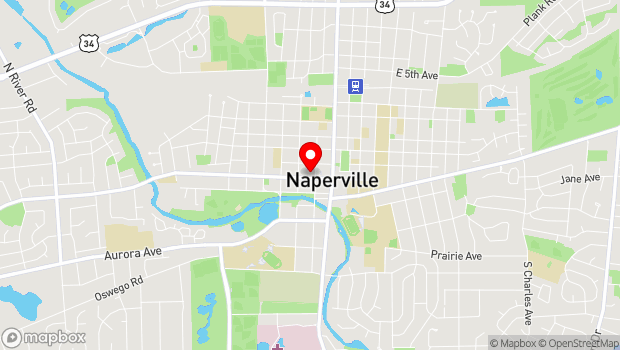 Google Map of 123 W. Jefferson Ave., Naperville, IL 60563