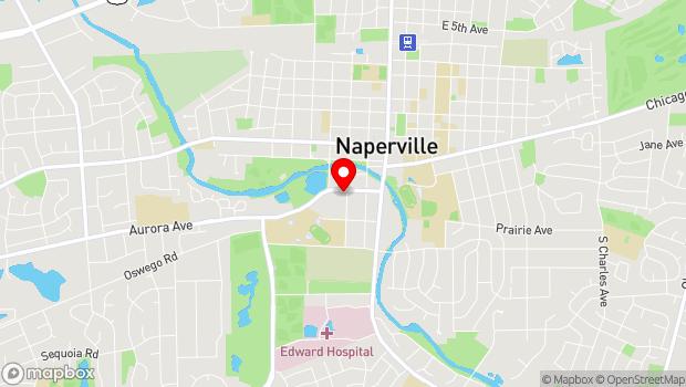 Google Map of 523 S. Webster St., Naperville, IL 60540