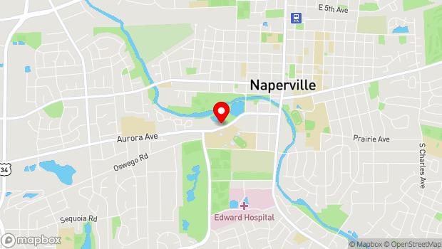 Google Map of 443 W. Aurora Ave, Naperville, IL 60540