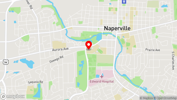 Google Map of 440 W Aurora Ave, Naperville, IL 60540