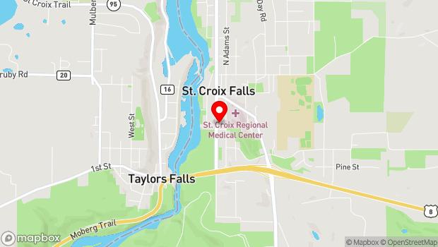 Google Map of 230 S. Washington Street, Saint Croix Falls, WI 54024