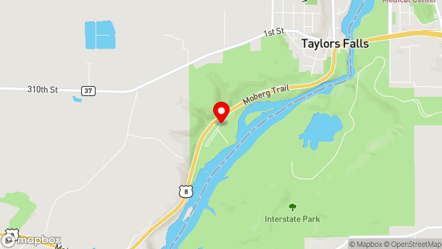 Google Map of 307 Milltown Rd, Taylors Falls, MN 55084