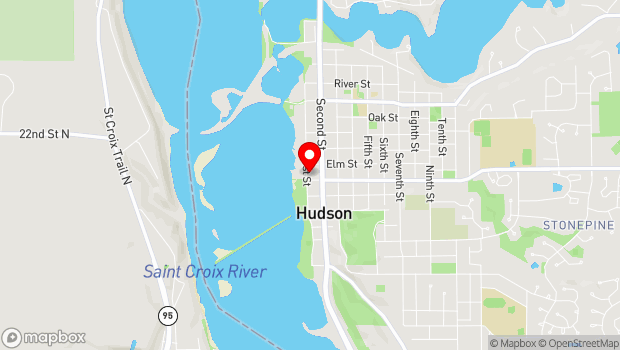 Google Map of 700 First Street, Hudson, WI 54016