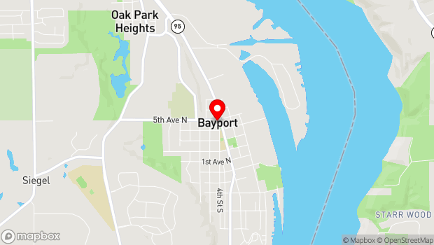 Google Map of 582 N 4th St, Bayport, MN 55003