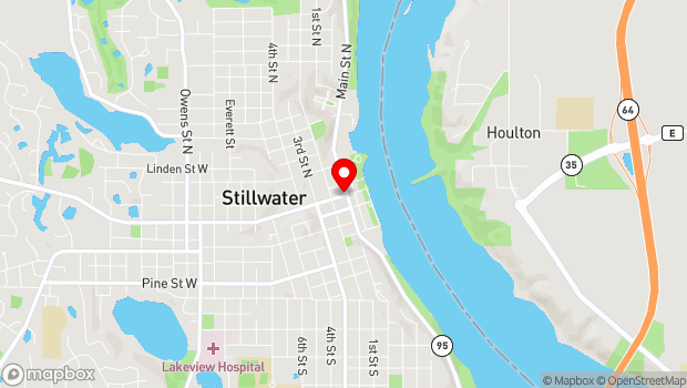 Google Map of 102 Main St N, Stillwater, MN 55082
