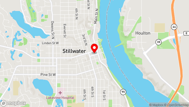 Google Map of 200 E Chestnut St., Stillwater, MN 55082