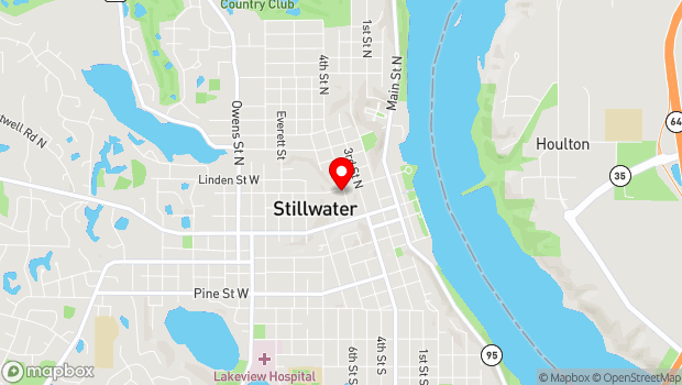 Google Map of 224 North 4th Street, Stillwater, MN 55082