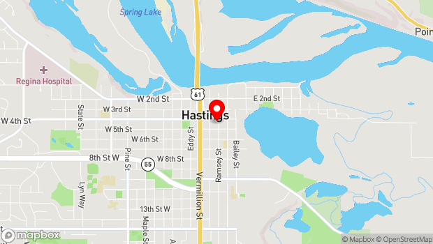 Google Map of 216 4th Street East, Hastings, MN 55033