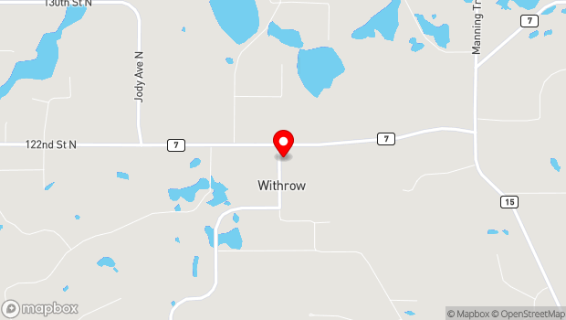 Google Map of 12169 Keystone Ave North, Withrow, MN 55038
