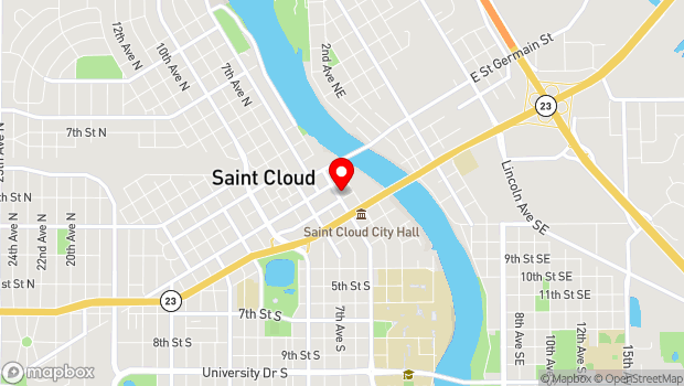Google Map of 22 Fifth Avenue South, Saint Cloud, MN 56301