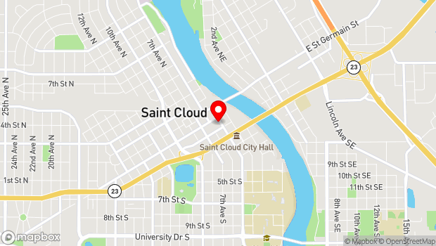 Google Map of 11 5th Avenue South, St. Cloud, MN 56301
